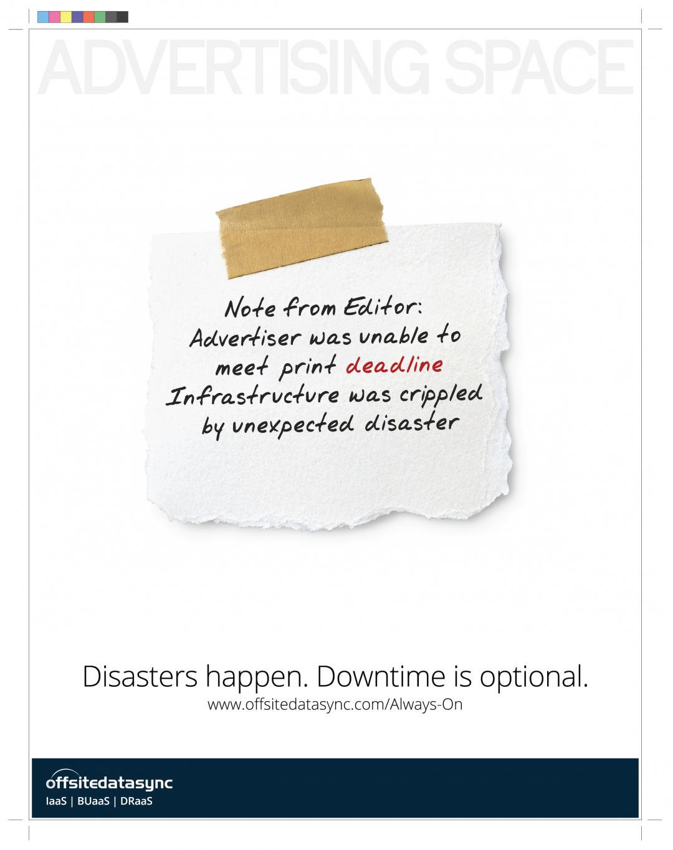 OffsiteDataSync, Inc. CIOReview Ad