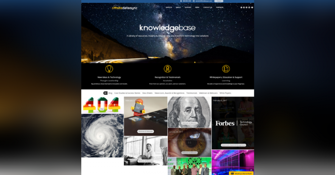 OffsiteDataSync, Inc. Knowledgebase