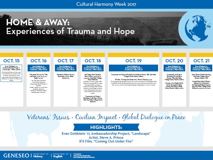 SUNY Geneseo, Cultural Harmony Week 2017