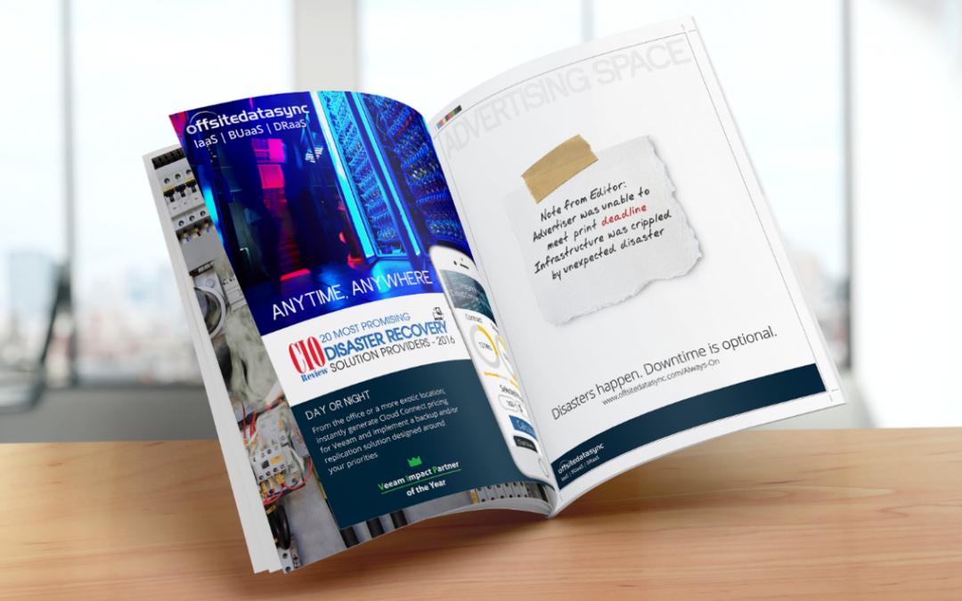 OffsiteDataSync, Inc. Ad in CIOReviw Magazine 2017