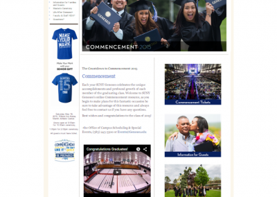 SUNY Geneseo, Commencement 2015