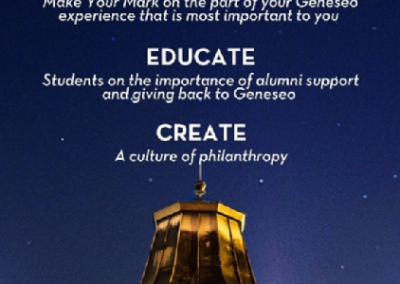 SUNY Geneseo, Make Your Mark Retractable Banner