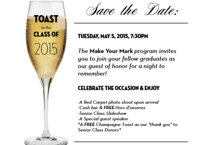 SUNY Geneseo, Senior Toast Invitation