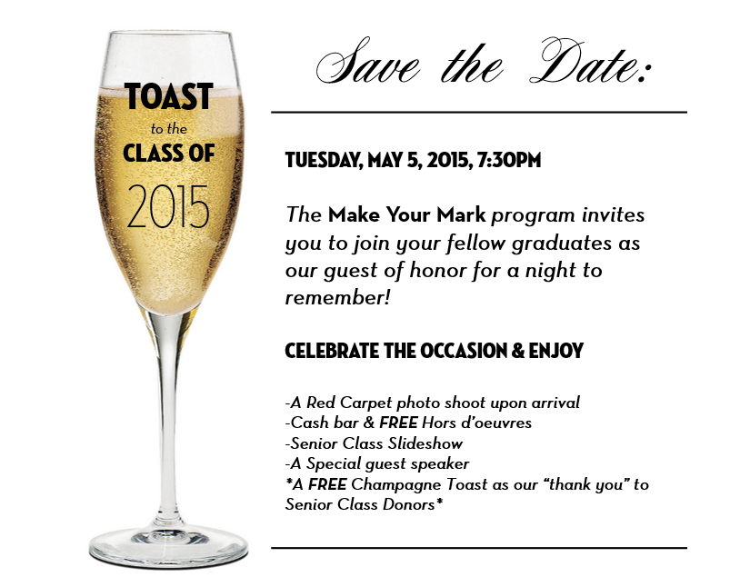 SUNY Geneseo, Senior Toast Invitation