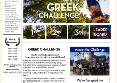 SUNY Geneseo, Greek Challenge 2014