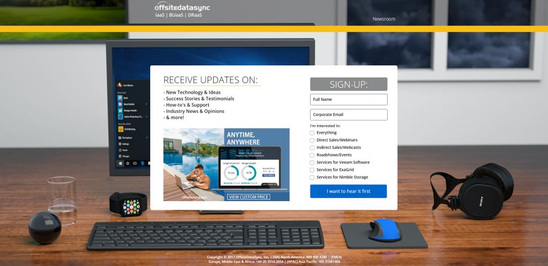 OffsiteDataSync, Inc. Landing Page