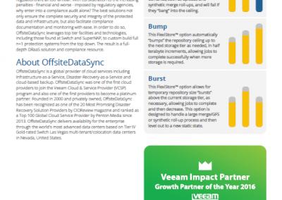 OffsiteDataSync, Inc. Veeam v9.5 Datasheet