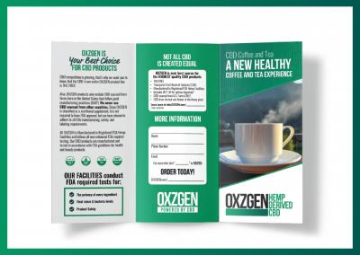 OXZGEN CBD Coffee & Tea Brochure