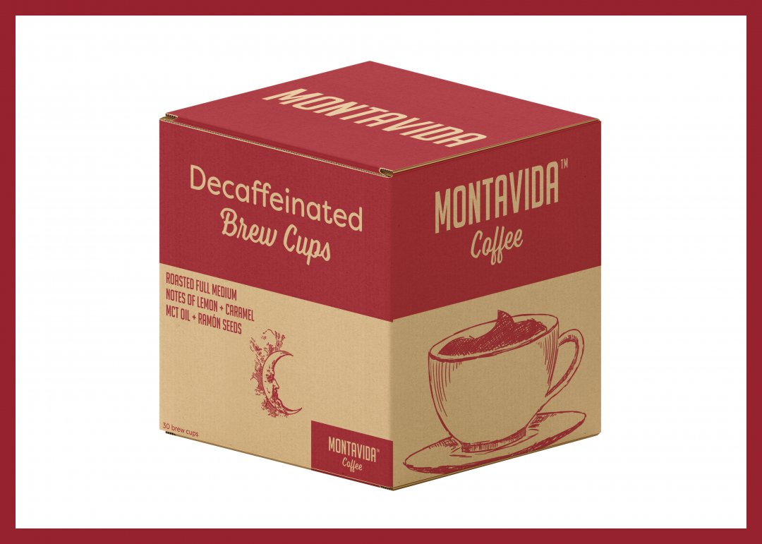 MontaVida Coffee Decaffeinated Brew Cup Box