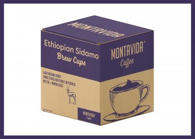 MontaVida Coffee Ethiopian Sidamo Brew Cup Box