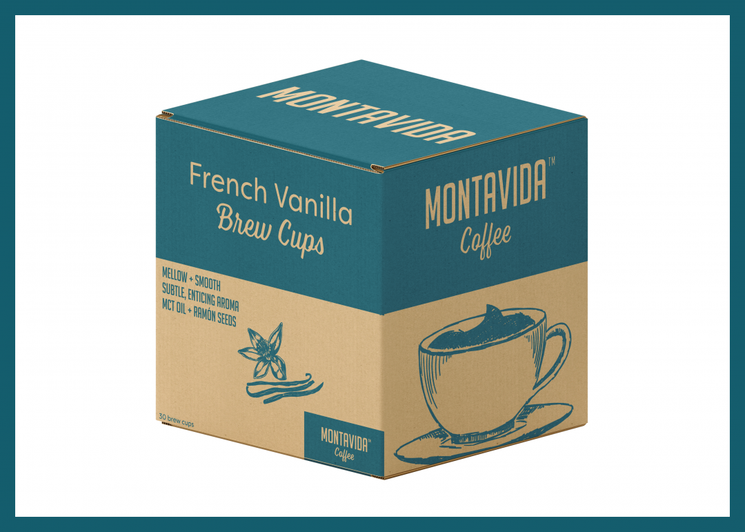 MontaVida Coffee French Vanilla Brew Cup Box