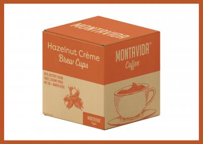 MontaVida Coffee Hazelnut Creme Brew Cup Box