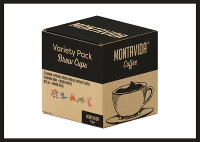 MontaVida Coffee Variety Brew Cup Box