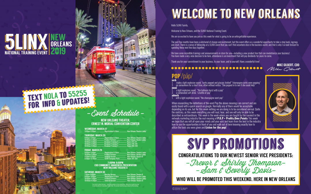 5LINX 2019 New Orleans National Training Event Program Guide