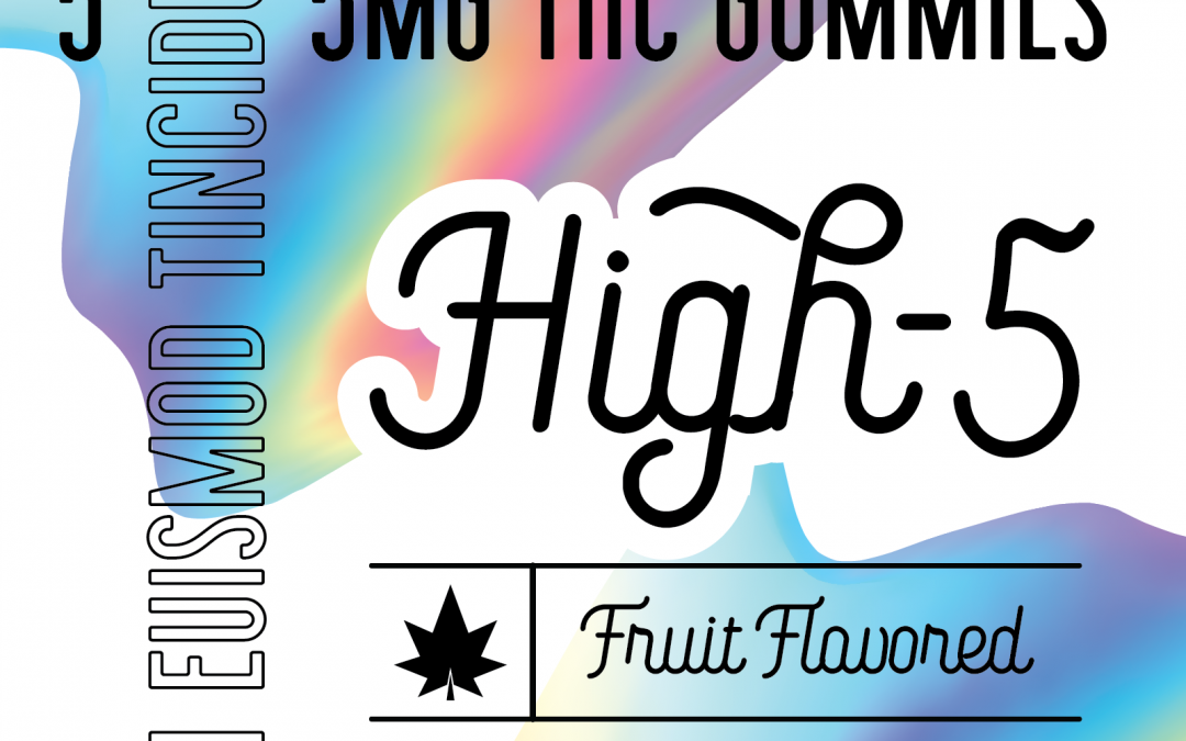 Hi-5 THC Gummy Packaging Concept